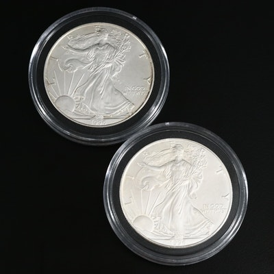 Two Better Date 1996 American Silver Eagle $1 Bullion Coins