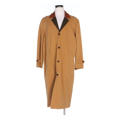 Men's Orvis Lyocell Overcoat with Wool Blend Lining