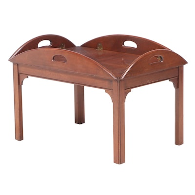 Pennsylvania House Chippendale Style Cherrywood Butler's Tray Table, dated 1985
