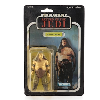 "Kenner ""Return of the Jedi"" Rancor Keeper Action Figure Original Packaging, 1983"