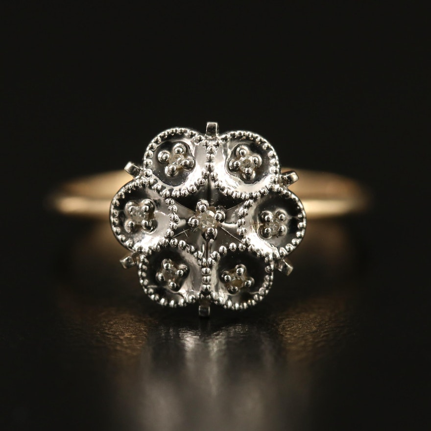 10K Illusion Set Diamond Ring