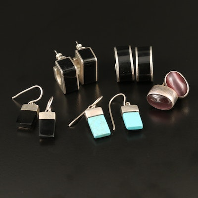 Mexican Sterling Silver Earring Assortment