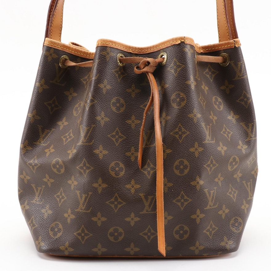 Louis Vuitton Petit Noé in Monogram Canvas and Vachetta Leather