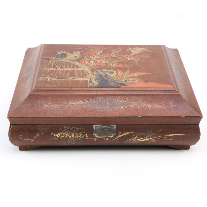 Chinese Laquerware Gaming Box, Antique
