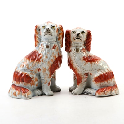 Red Staffordshire Spaniels, Late 19th- Early 20th Century