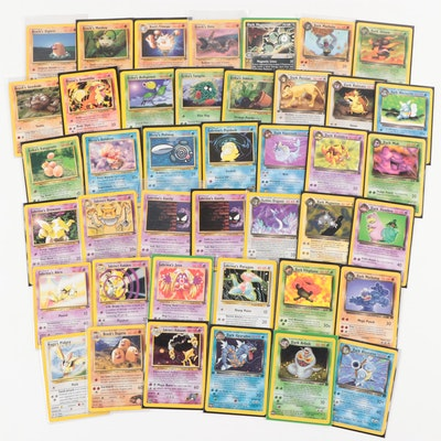 1990s Dark Pokémon and Trainer Edition Pokémon Cards