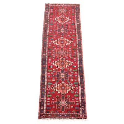 2'5 x 9'4 Hand-Knotted Persian Karaja Wool Carpet Runner