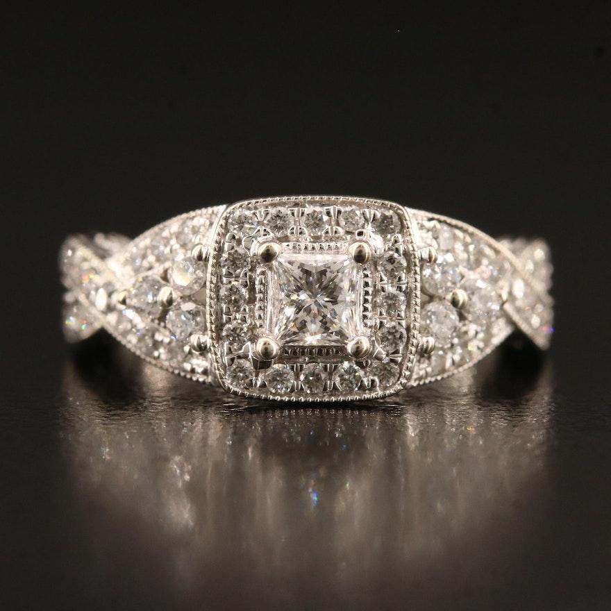 Vintage Style 14K Diamond Ring