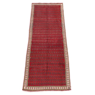 3'4 x 9'8 Hand-Knotted Northwest Persian Wool Long Rug