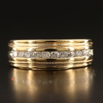 10K Channel Set Diamond Band