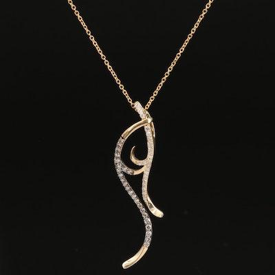 Le Vian 14K Diamond Scroll Necklace