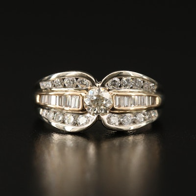 14K 1.11 CTW Diamond Band