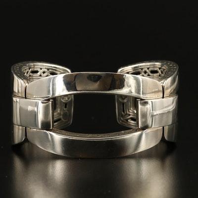 John Hardy Sterling Silver Link Cuff