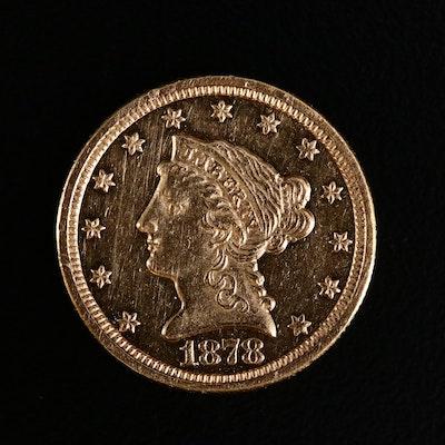 1878-S Liberty Head $2.50 Gold Quarter Eagle