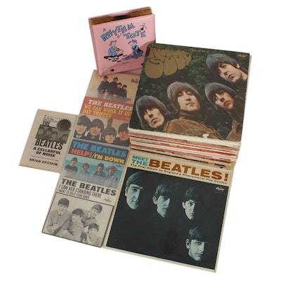 "The Beatles Vinyl Records Including ""Rubber Soul"" and ""Meet The Beatles"""