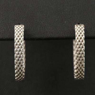 """Tiffany & Co. """"Somerset"""" Sterling Silver Hoop Earrings"""