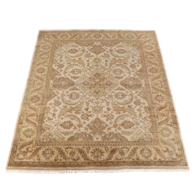 9'1 x 11'9 Hand-Knotted Indian Numani Wool Rug