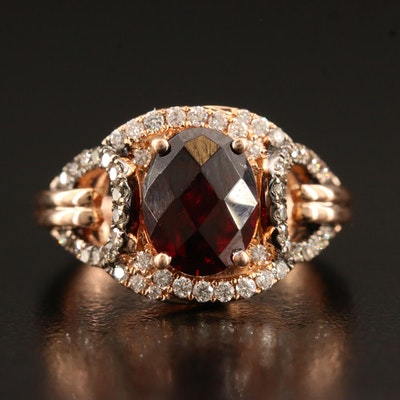 Le Vian 14K Garnet and Diamond Ring
