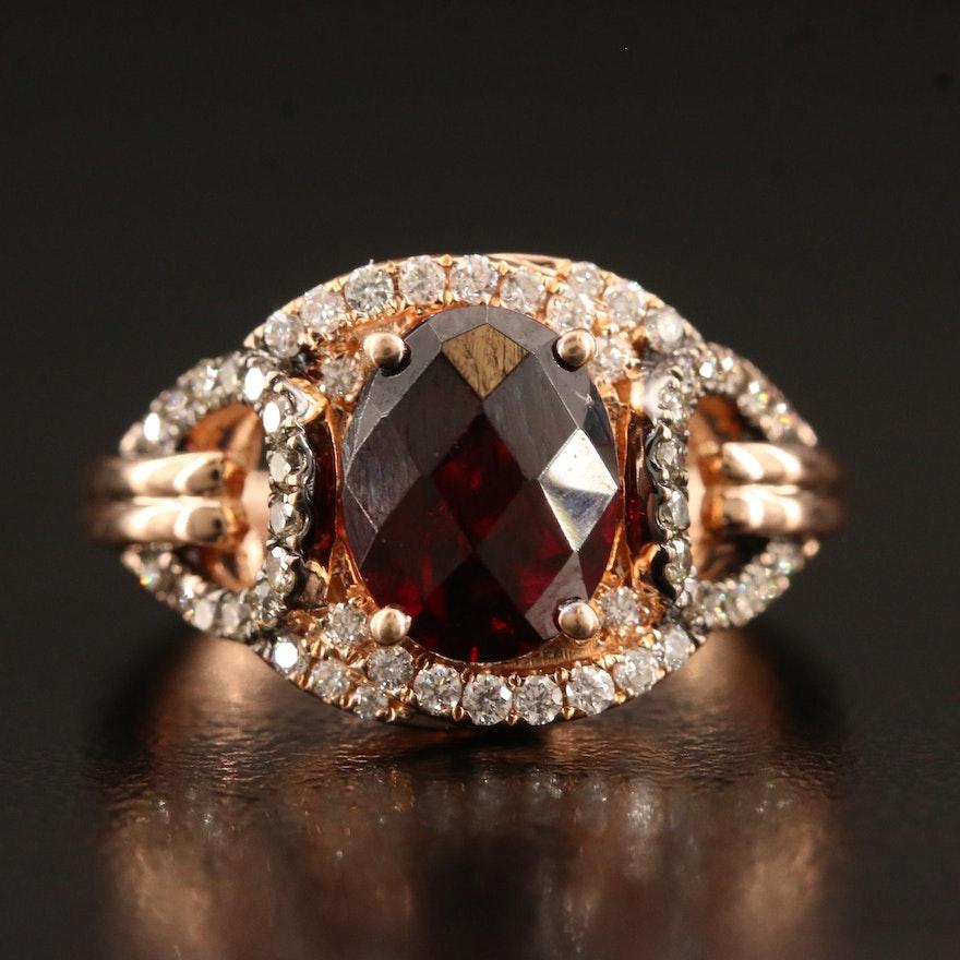 Le Vian 14K Garnet and Diamond Ring