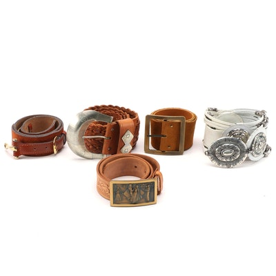 Tony Barcelo, Anne Klein, Burton and More Leather Belts Including Western Style