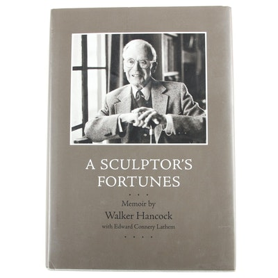 "Signed First Edition ""A Sculptor's Fortunes"" by Walker Hancock, 1997"