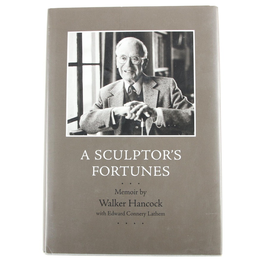 """Signed First Edition """"A Sculptor's Fortunes"""" by Walker Hancock, 1997"""