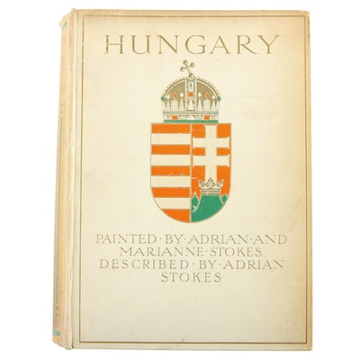 "First Edition ""Hungary"" Painted by Adrian and Marianne Stokes, 1909"