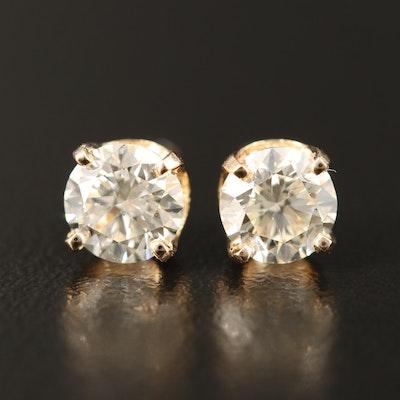 14K 1.36 CTW Diamond Stud Earrings