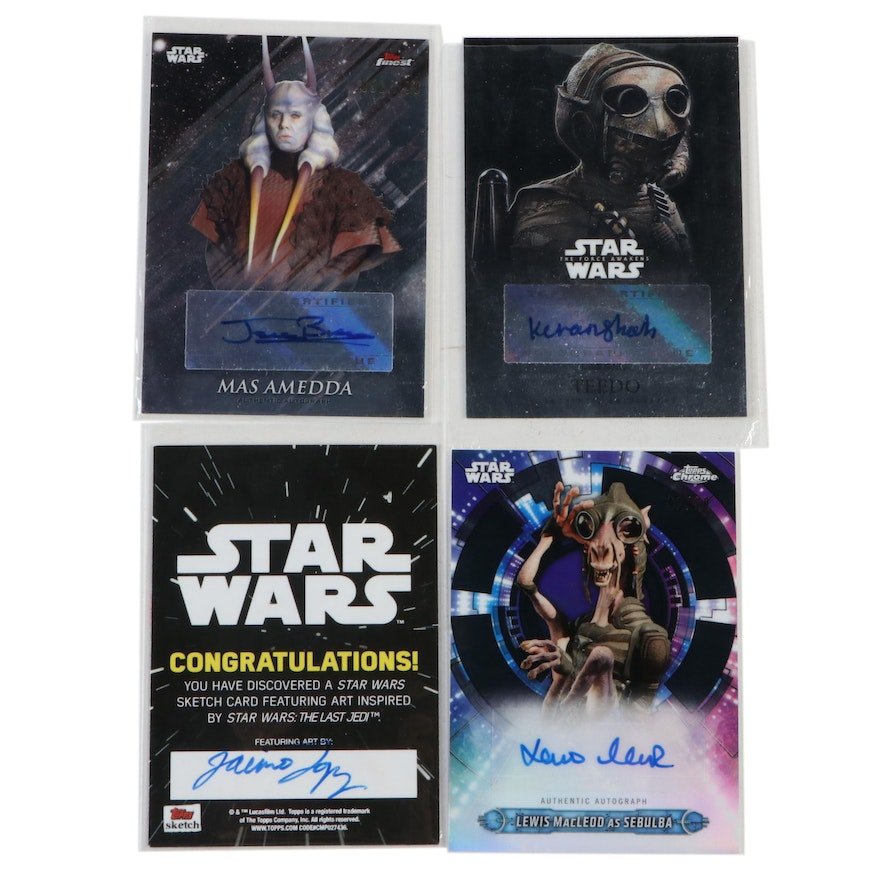 Autographed Star Wars Cards Including Jerome Blake, and Kiran Shah