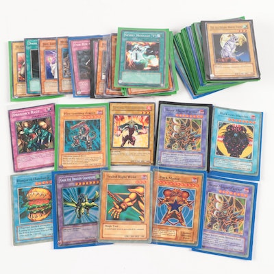 """Yu-Gi-Oh! Cards, Including Holo """"Sealed Right Wrist,"""" and Others"""