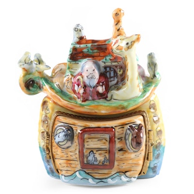 "Hand-Painted Limited Edition ""Noah's Ark"" Limoges Box"