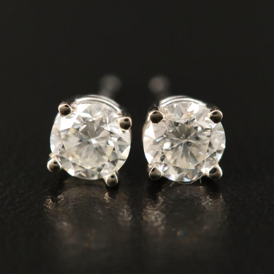 14K 0.96 CTW Diamond Stud Earrings