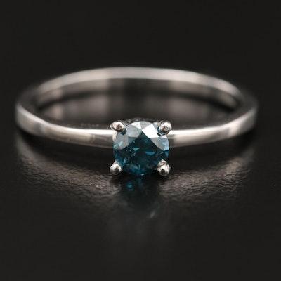 Platinum 0.40 CT Diamond Solitaire Ring