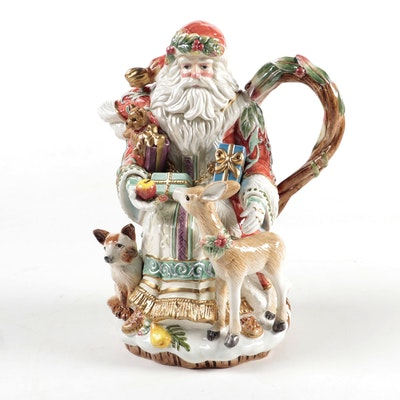 "Fitz and Floyd ""Enchanted Holiday"" Ceramic Teapot"
