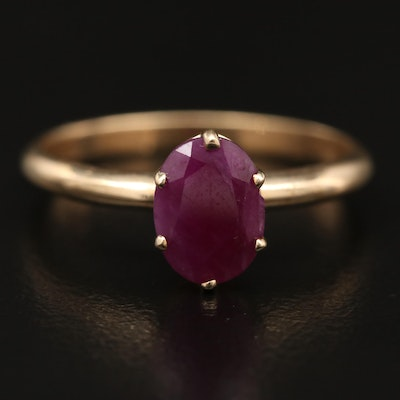 10K 1.55 CT Ruby Solitaire Ring