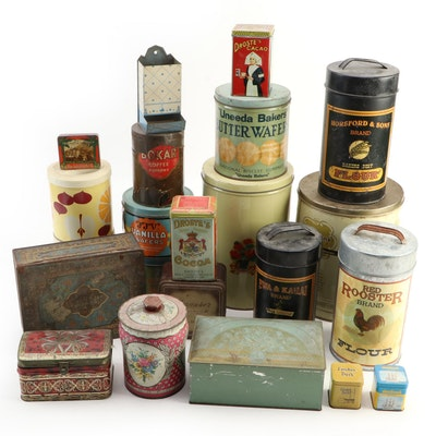 Food and Tobacco Advertising Tins and Match Holder