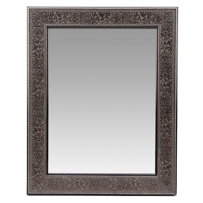 """Martin Aborn"" Metallic Gray Wood Wall Mirror"