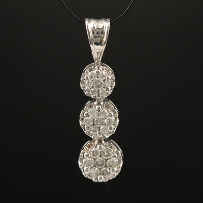 10K Diamond Drop Pendant