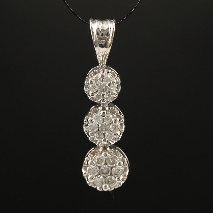 10K Diamond Drop Pendant