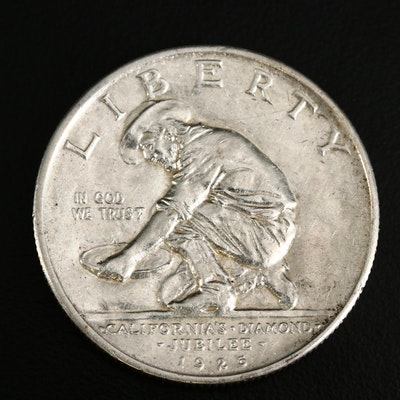 1925-S California Diamond Jubilee Silver Half Dollar