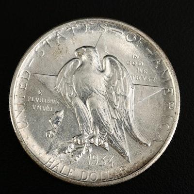 1934 Texas Independence Centennial Silver Half Dollar