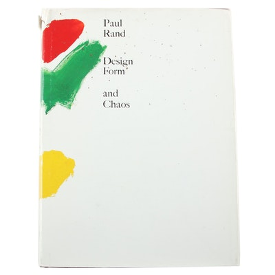 "Signed First Edition ""Design, Form and Chaos"" by Paul Rand, 1993"