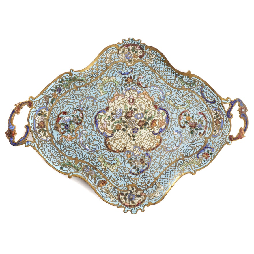 French Champleve Tray, Early to Mid 20th Century