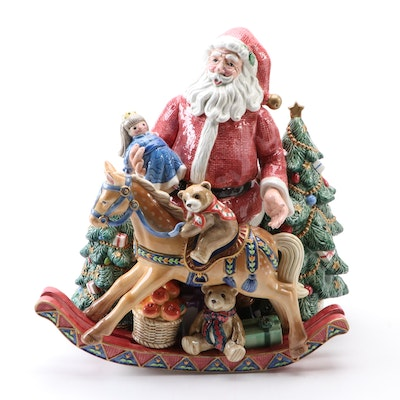 "Fitz and Floyd ""Old Fashioned Christmas"" Ceramic Centerpiece Figurine"
