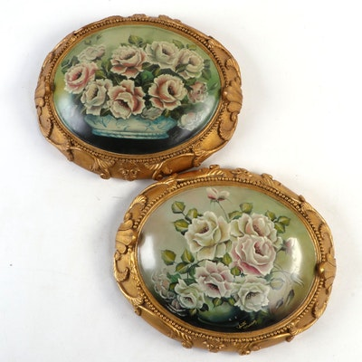 Floral Still Life Wall Hanging Plaques by Artist Annette Stevenson