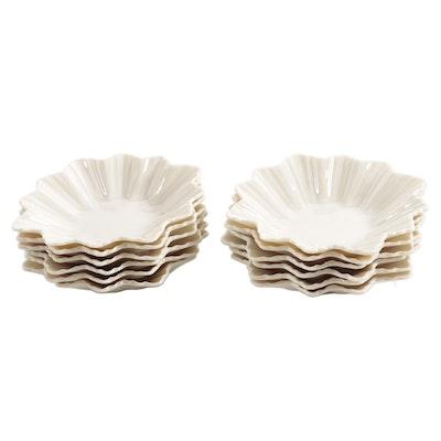 Lenox Porcelain Fluted Shallow Bowls