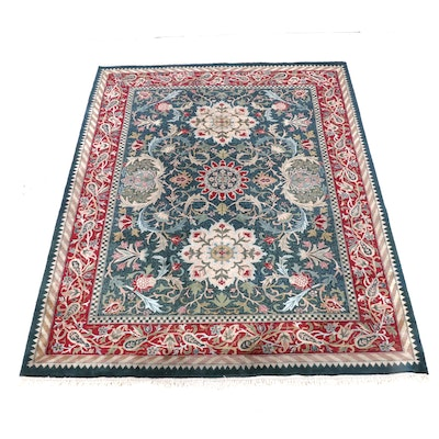 9'0 x 12'11 Hand-Knotted Persian Hamadan Wool Rug