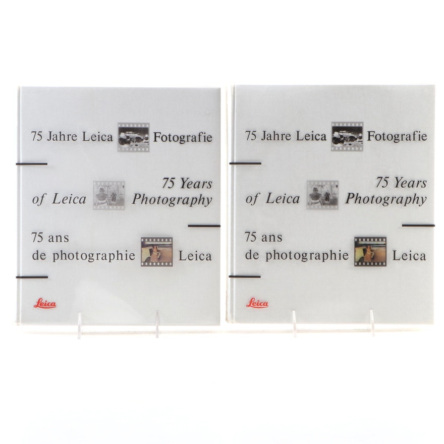 """Multi-Language """"75 Years of Leica Photography"""" Edited by Verena Frey, 1990"""