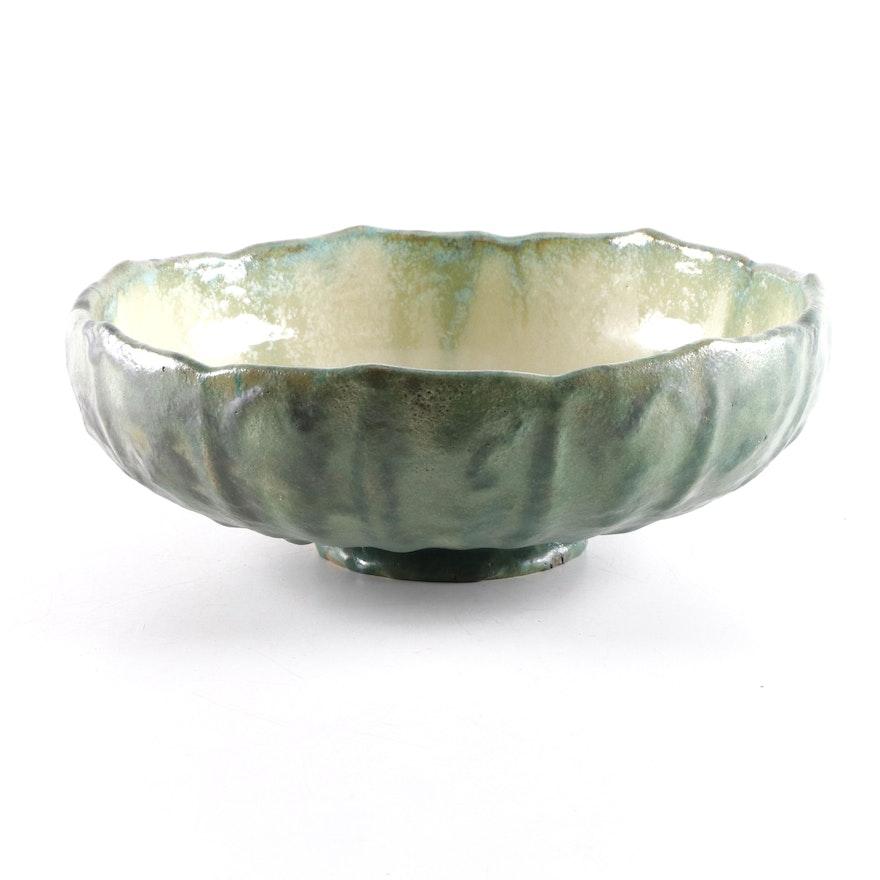Fulper Glazed Ceramic Bowl, Early to Mid 20th Century