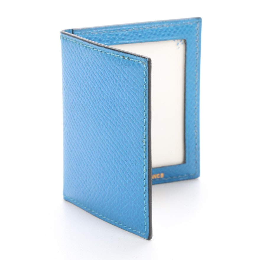 Hermès Paris Wallet Photo Cover in Blue Epsom Leather